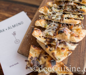 Oak + Almond Funghi Flatbread