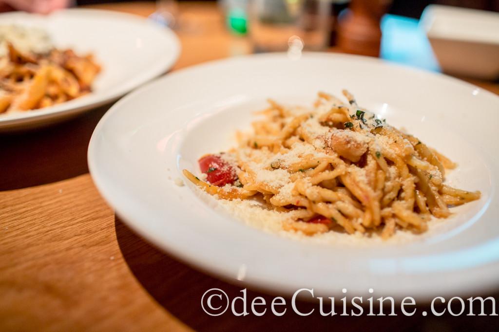 Trofie with Rock Shrimp at Morello Italian Bistro