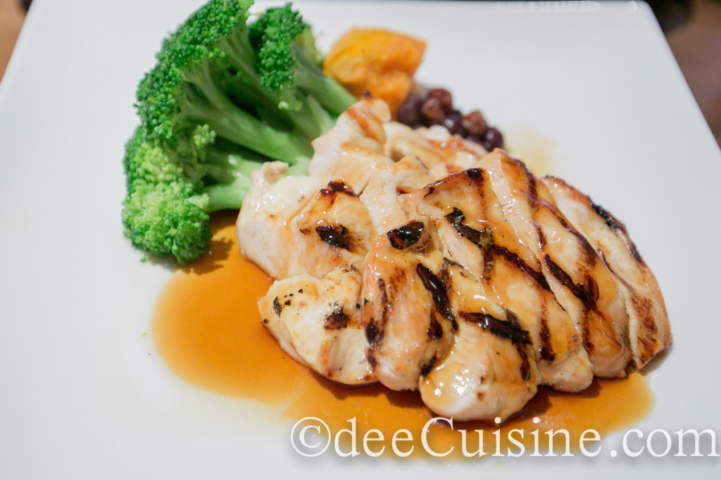 Chicken Teriyaki with steamed vegetables