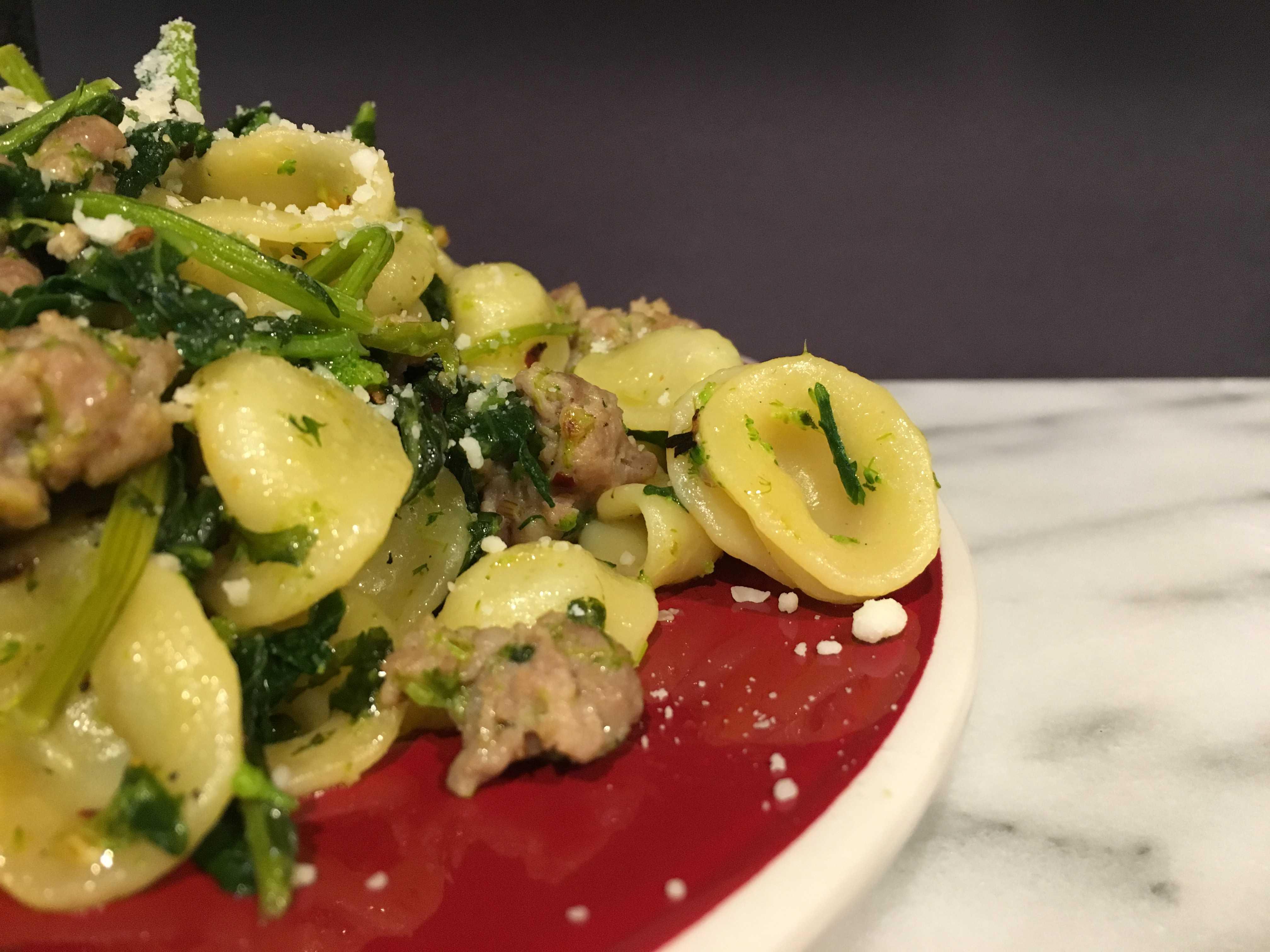 Recipe: Orecchiette with Broccoli Rabe and Sausage | dee Cuisine | We ...
